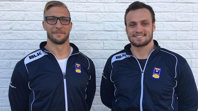 Jonas Zengler och Emil Rådkvist, svenska rugbylandslaget