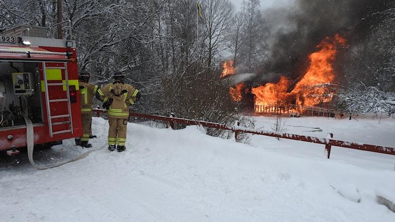 Villan i Gårdeby brann ner till grunden.