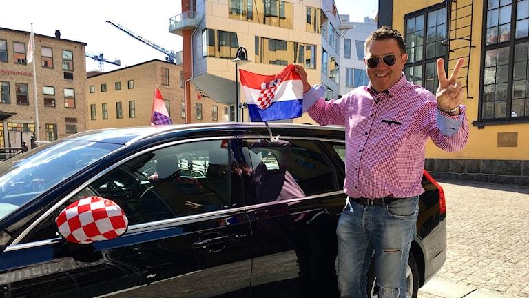 Mijo Pejic är lycklig efter att Kroatien gått till VM-final.