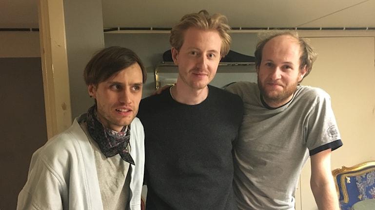 Ambjörn Göransson, Petter Frisendahl och Åke Olofsson i Den Svenska Björnstammen