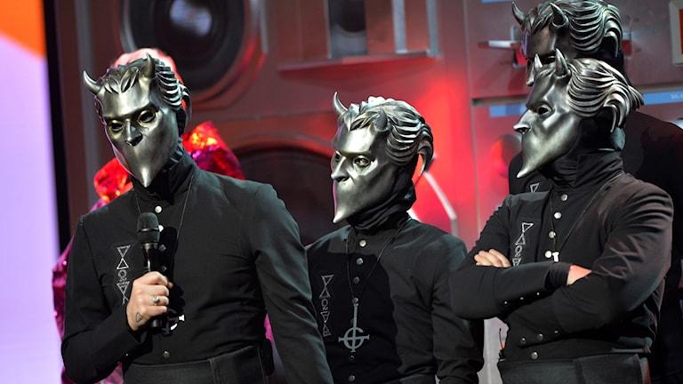 Ghost vinnner pris för årets hårdrock/metall på Grammisgalan på Cirkus i Stockholm.
