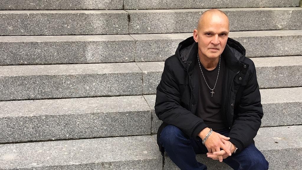 Glenn Larsson från organisationen Kris.
