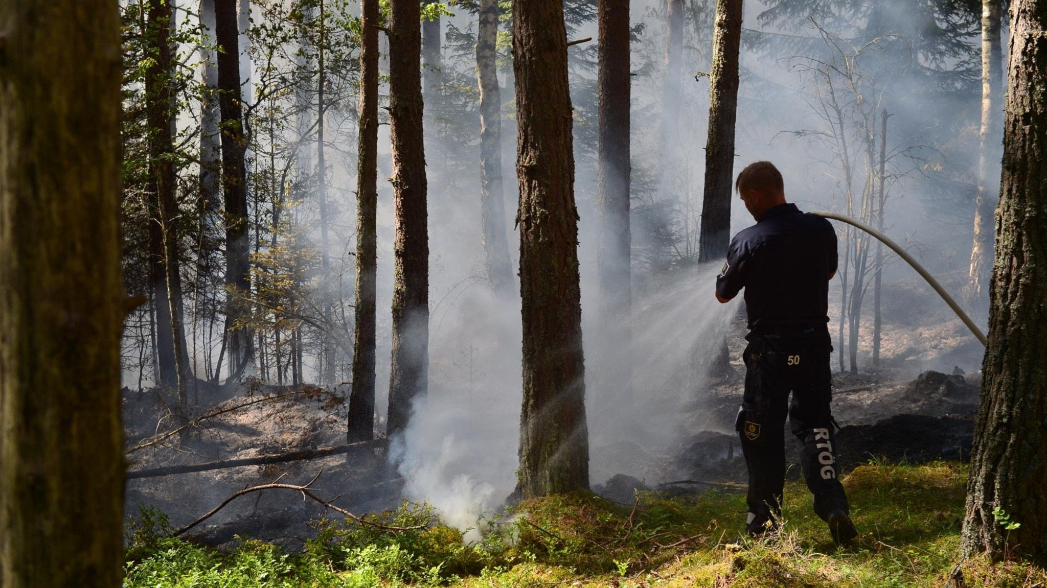 Kraftig brand i valdemarsvik