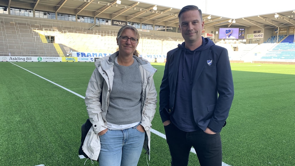 Anna Eriksson, tränare IFK Dam och Jens Magnusson, klubbdirektör