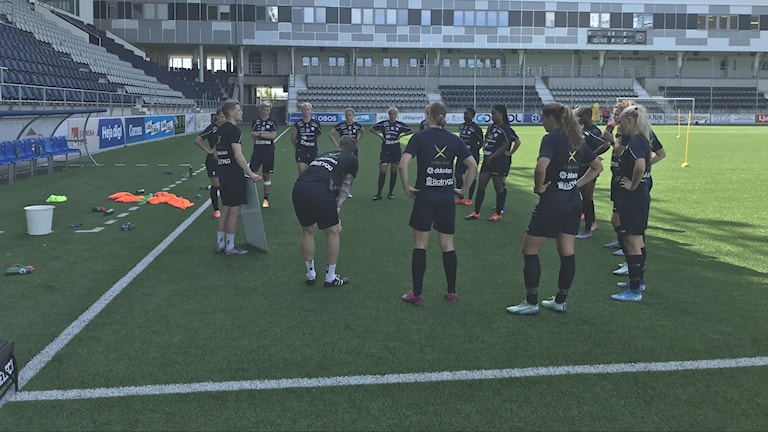 Linköping FC´s lag under en träning.
