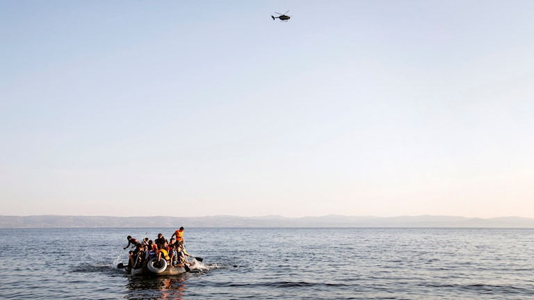 Båtflyktingar.