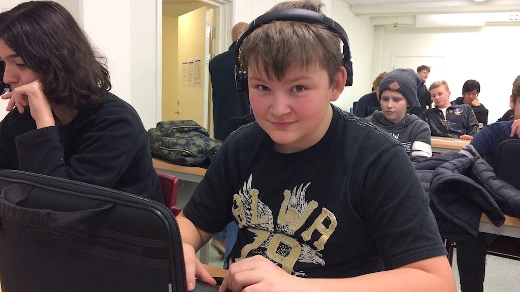 Marcus Petttersson, niondeklassare.