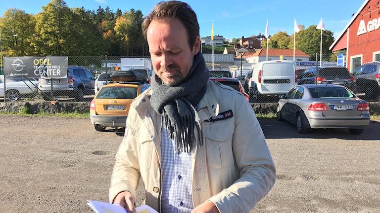 Mark- och exploateringsingenjör Kenny Wissmar i Kinda kommun.
