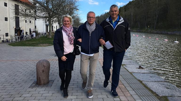 Ewa Åhman Per Åhman och Matthew Hansford i Söderköping.