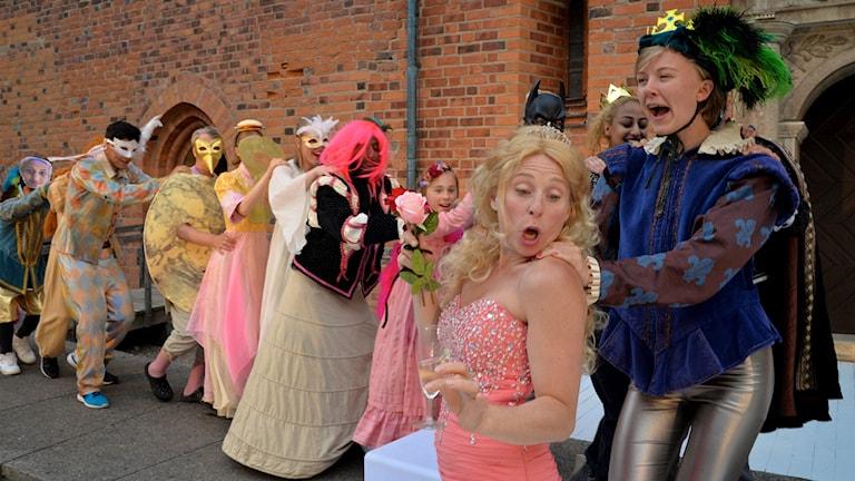 På lördag är det premiär för pjäsen Romeo & Juliet på Gräsgården i Vadstena.