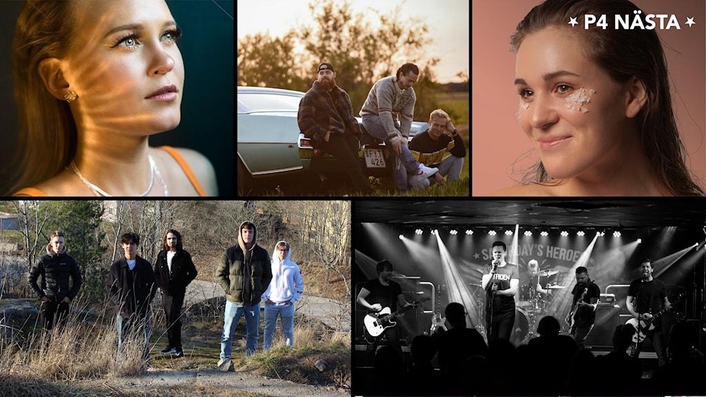 Här är de fem finalisterna i Östergötland i P4 Nästa 2021.