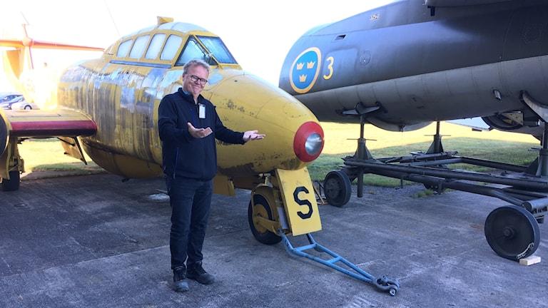 Torsten Nilsson, enhetschef Flygvapenmuseum, är glad att få visa upp fler flygplan för allmänheten.