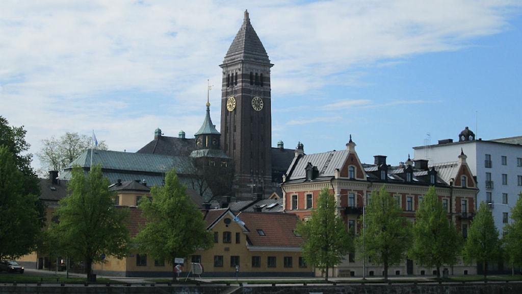 Rådhuset i Norrköping på avstånd foto:Maria Turdén/Sveriges Radio