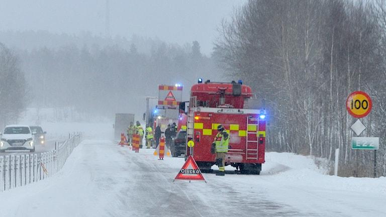 Trafikolycka E22