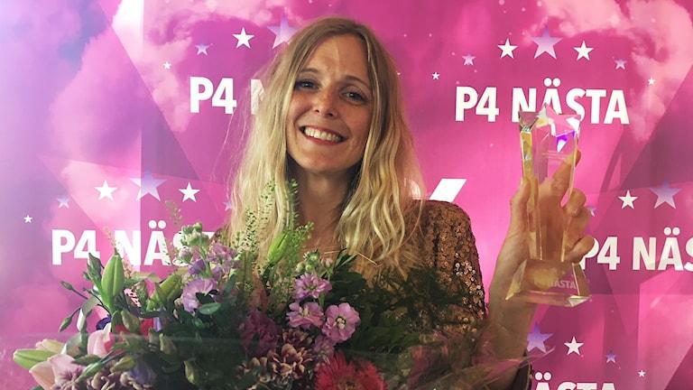 Emilie Höijer vann den lokal finalen av tävlingen P4 Nästa 2018.