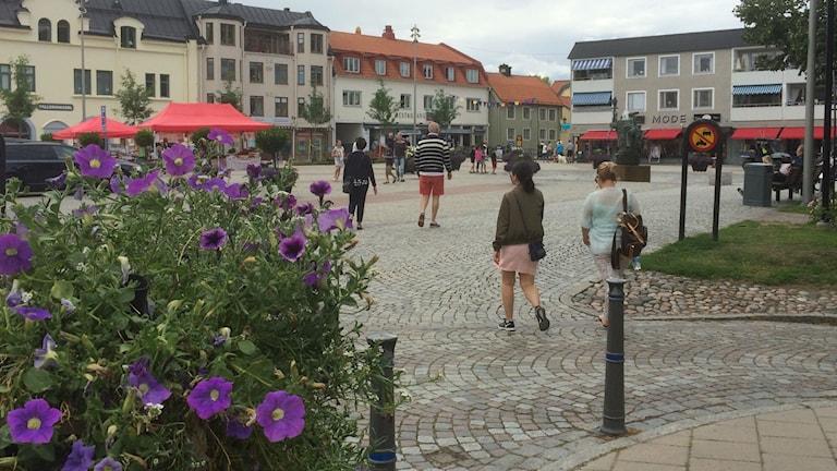 Hagatorget i Söderköping sommartid