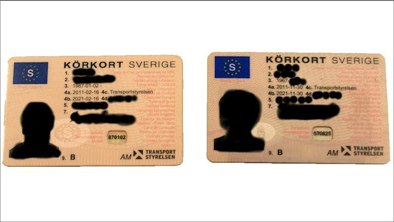 Svårt att skilja på ett falskt och ett äkta körkort