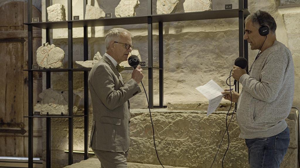 Göran Tagesson intervjuas av Tahir Yousef