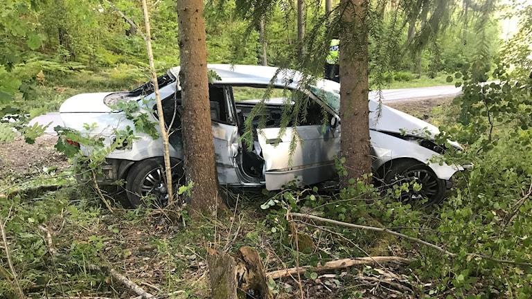 Två personer skadades allvarligt i olyckan.