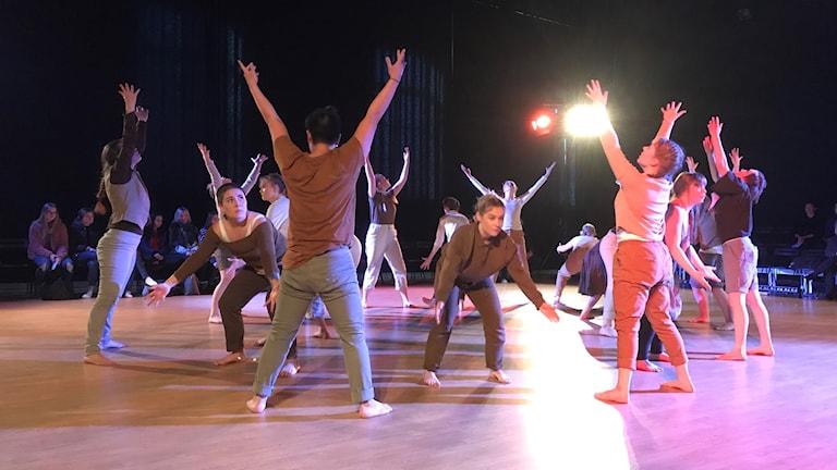 Danselever vid Lunnevads folkhögskola ger sin slutföreställning, Sista droppen.