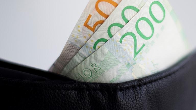 Pengar i plånbok