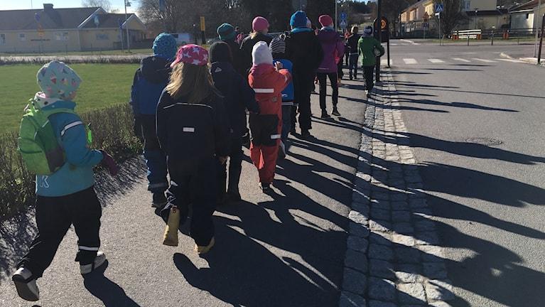 Barn från Västra Husbys fritidshem.