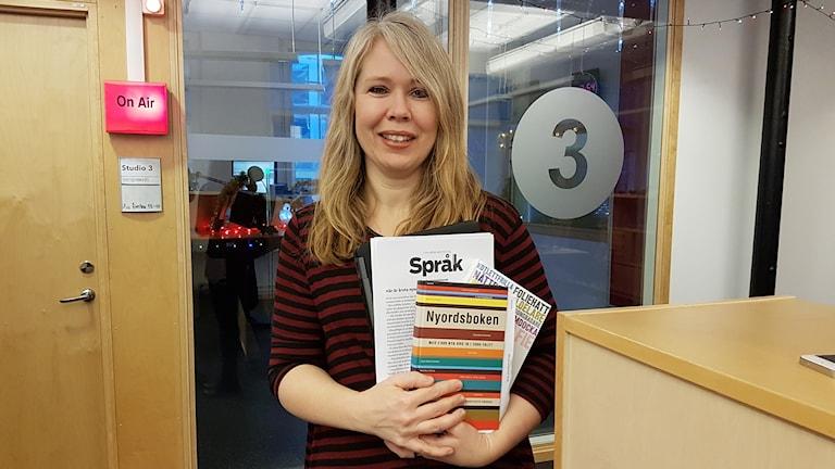 Lotta Ederth, språkvårdare på Sveriges Radio och SVT.