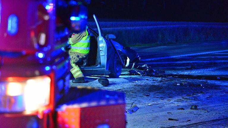 Trafikolyckan på länsväg 210.
