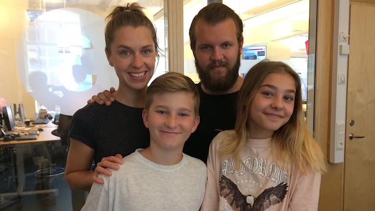 Susanna Karlsson, Marcus Fyrberg, Casper Fyrberg och Inez Forsmar.