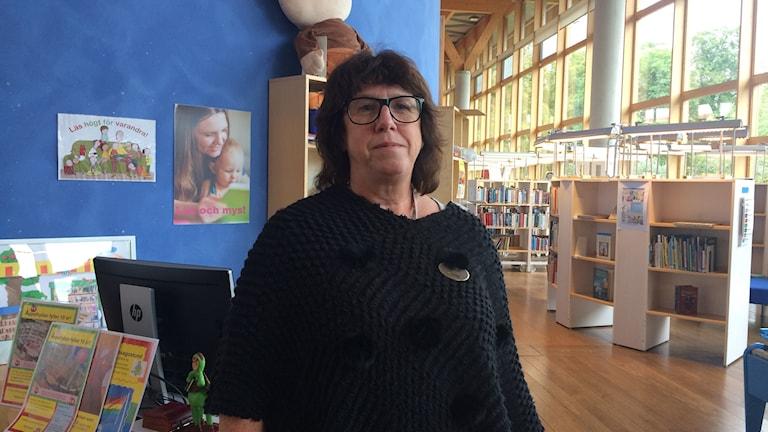 Marie Sääf, biträdande bibliotekschef i Linköping.