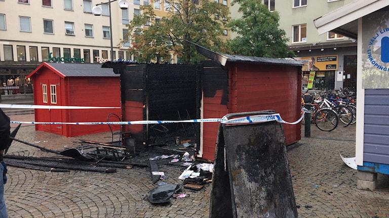 Nedbrunnen sverigedemokratisk valstuga i Linköping.