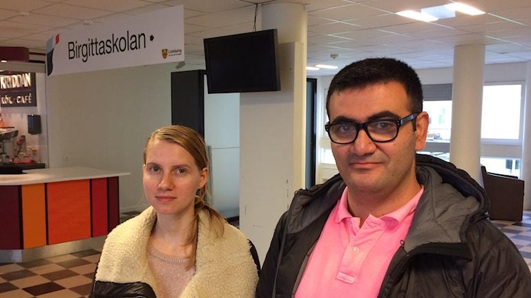 Giorgiana Eftimie och Gabriel Chukri, Birgittaskolan.