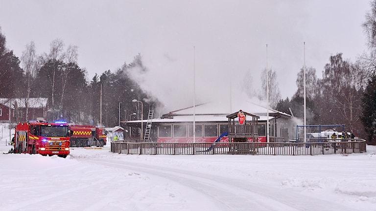 Branden i en reataurang nära djurparkens parkering kan vara anlagd.