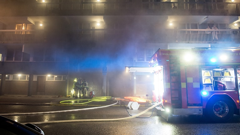 Garagebrand centrala Norrköping