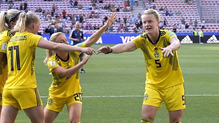 Nilla Fischer efter VM-bronset i somras.
