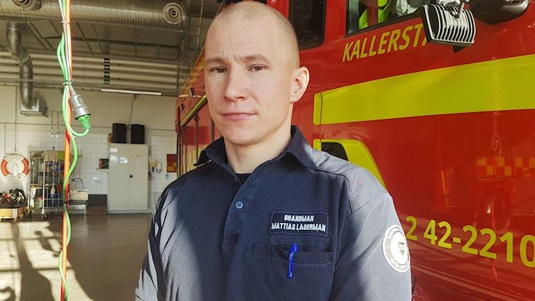 Mathias Lagerman, ordförande för Kommunal räddningstjänsten i Linköping.