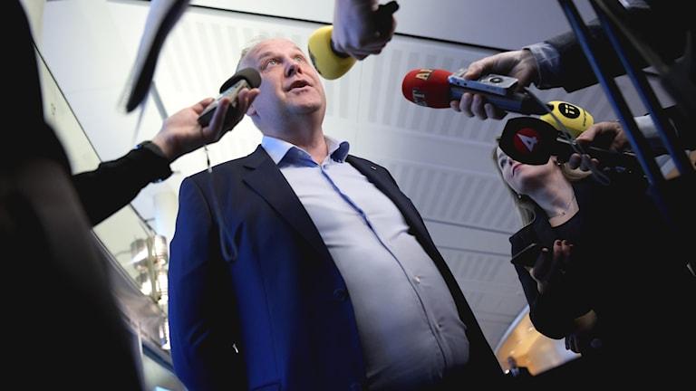 Vänsterpartiets partiledare Jonas Sjöstedt (V).