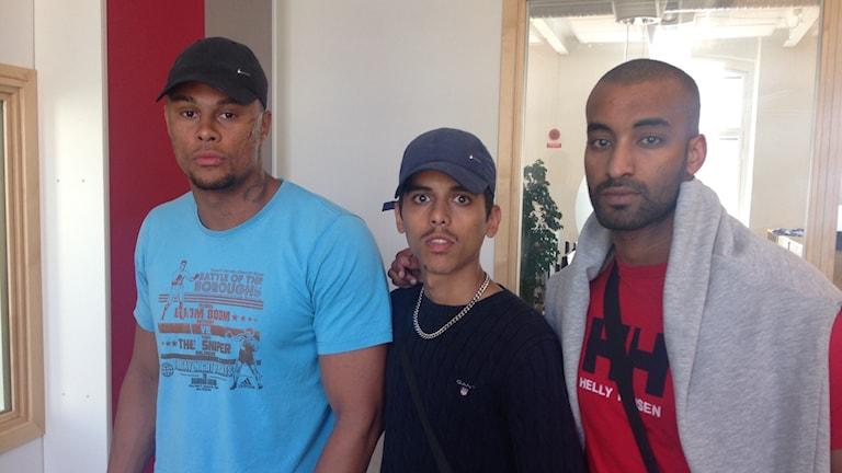 Alex Ceesay, Hamza och Salle.