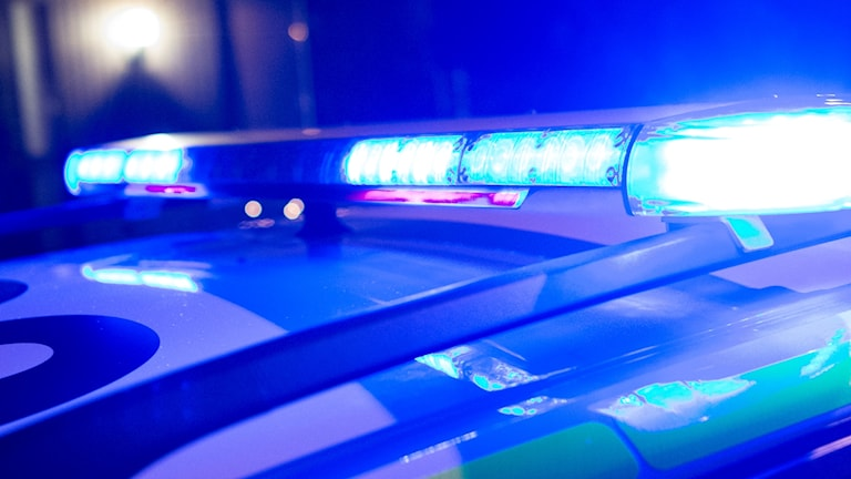 blåljus polisbil polis