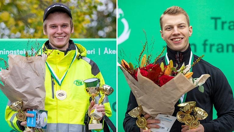 Daniel Kvist från Linghem och Emrik Gunnarsson från Mantorp är Sveriges bästa unga lastbilsförare respektive flygmekaniker.