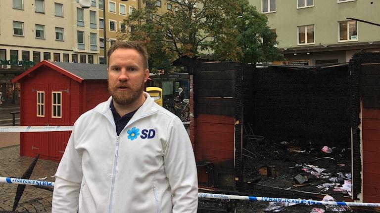Klas Ahlberg, politisk sekreterare för SD i Linköping.