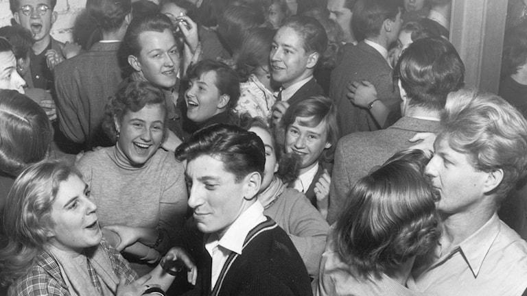 Trångt på jazzklubben Gazell 1951