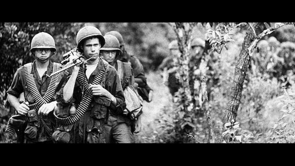 Amerikanska soldater i Vietnam under 60-talet.
