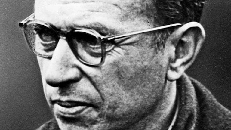 Jean Paul Sartre 1964. SVT bild.
