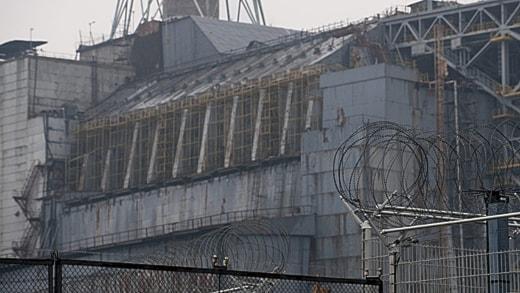 Sarkofagen över reaktor 4 i Tjernobyl. Foto: Scanpix