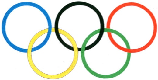 De olympiska ringarna. SVT bild.