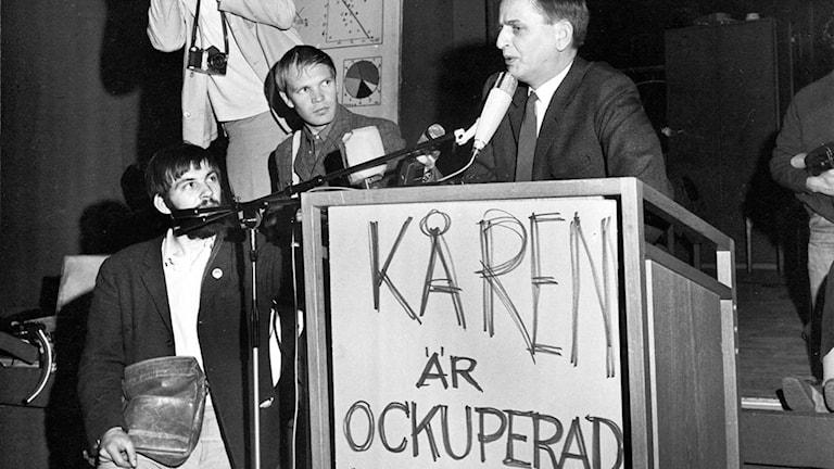 Kårhuset i Stockholm ockuperas 1968