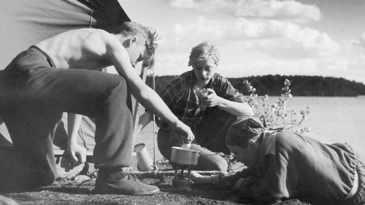 Camping. SVT Bild.