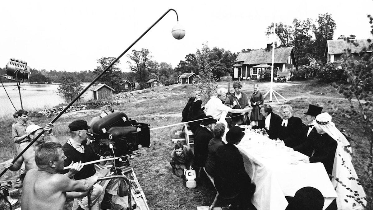 Filminspelning Strindbergs Hemsöborna. SVT Bild.