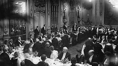Nobelfesten 1922. Foto: Scanpix